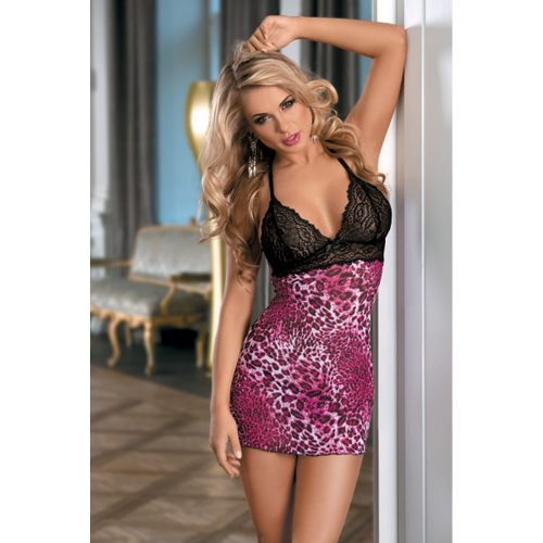 71087-stretch-black-floral-lace-red-leopard-back-cross-adjustable-ring-thong-sexy-babydoll
