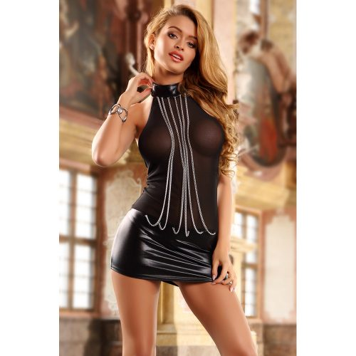 20156-women-black-mesh-and-wet-look-chain-decorated-backless-thong-included-seductive-club-wear-dress